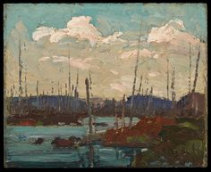 Burned Over Swamp, Spring 1915 Group Of Seven Art, Tom Thomson Paintings, Sea Pictures, Impressionist Artists, Canadian Artists, Painting Inspiration, Spring, My Arts, Fine Art