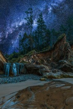 milky way, oregon coast by afoto