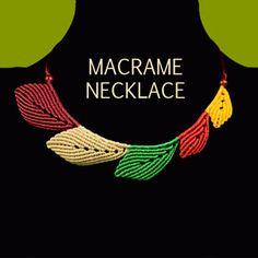 Macrame Leaf Necklace Tutorial