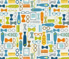 Speak Geek? fabric by amanda mcgee on Spoonflower - custom fabric