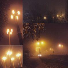 Wczoraj wieczorem #katowice - #ciemność #zimno #mgła #listopad #światła #mrok #jesień #november #lights #autumn #fog #darkness