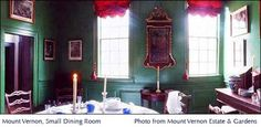 The small Dining Room Mount Vernon - Google Search