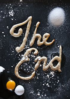 Pancake typography- how creative!