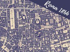 Pianta Topografica di Roma – Censo Pontificio 1866Roma Ieri Oggi | Roma Ieri Oggi