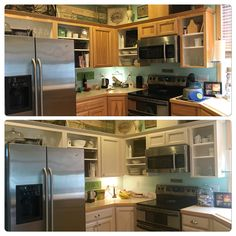 Painted cabinets using amy howard paint home ideas for Amy howard paint kitchen cabinets