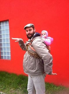 Variation for a hungarian babywearing Dad - on the site