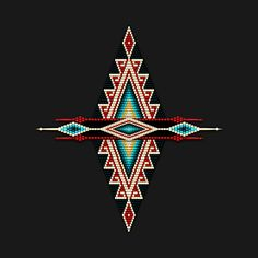 native american beadwork patters Check out this awesome 'Native+American+Style+Mandala+in+Red' design on Native American Patterns, Native American Regalia, Native American Symbols, Native American Design, Native American Beadwork, Native American Fashion, Native American History, Native American Jewelry, American Indians