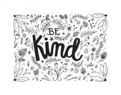 Be Kind Original Floral Print by megansalcido on Etsy