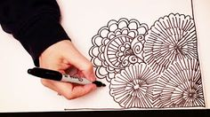 ASMR Doodle Face (ASMR, drawing, doodling, tingles, tangles, zentangle, no talking) - YouTube
