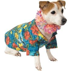 Your dog will hang ten in our Luau Dog Costume. A colorful lei and a flowered Hawaiian shirt make this Luau Dog Costume beach ready. Tiki Party, Luau Party, Dog Halloween Costumes, Dog Costumes, Luau Costume, Costume Ideas, Little Hawaiian, Beach Baby Showers, Tiki Dress