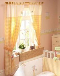 Lollipop Lane Pumpkin and Popsicle curtains small...Baby Planet