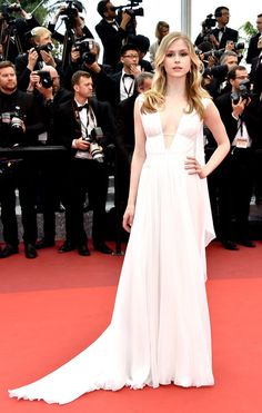 Erin Moriarty in Alberta Ferretti attends the Closing Ceremony during the 69th annual Cannes Film Festival on May 22, 2016 #Cannes2016