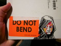 Do not bend!