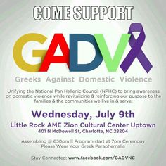 Please join me tonight as I come in support and bring awareness to domestic violence.