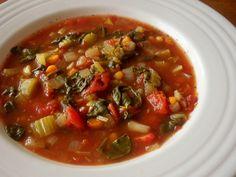 Crock Pot Spinach-Tomato-Vegetable Soup