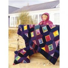 Knitted Abstract Throw And Cushion - Knitting Pattern