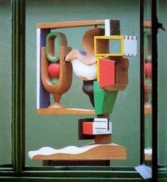 "Le Corbusier ""Nature Morte - No. 19"" 1957 Polychromed wood Dimensions : H : 0,97 m x L : 0,72 m x l : 0,40 m Signed and dated JS LC-1957 1 / 5 on the base, executed in May 1957 Sculpture FLC 19 Paris. Fondation Le Corbusier."