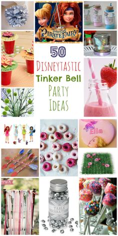 50 brilliant Tinker Bell party ideas including party decorations, food, games and party bags. #disney #tinkerbell #kidsparties