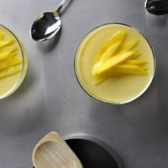 Mango Puddings - These silky, sweet little puddings are a perfect way to round out a yum cha feast.