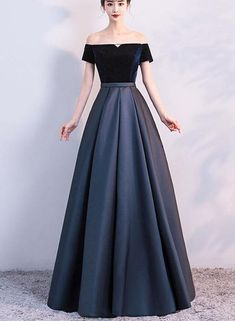 Elegant Velvet and Satin Off Shoulder Floor Length Party Dress, Blue Evening Gowns, Party Dress 2019 Grad Dresses Long, Strapless Dress Formal, Short Dresses, Bridesmaid Dresses, Prom Dresses, Formal Dresses, Dress Long, Plus Size Gowns Formal, Lehenga Designs