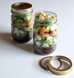 Lentil Salad with Plums, Avocado, and Lime Vinaigrette