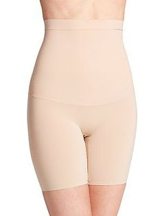 1ec2872629 SPANX Shapewear In-Power Higher Power HighWaisted Mid -Thigh Shaper NUDE SZ  C  SPANX  pantyshaper