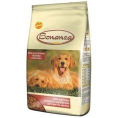 Bonanza es un alimento completo para perros adultos. Ingredientes: Cereales, subproductos de origen vegetal, carnes, subproductos animales, aceites y grasas, sustancias minerales, levadura. Rico en proteínas y vitaminas y minerales, 100% nutrición completa para perros adultos. Proteïna bruta - 23.0% Matéria Grasa bruta - 9.0% Celulosa bruta - 3.5% Cenizas brutas - 7.0% Calcio - 1.5% Fósforo - 1.0% Humedad - 10.0% Formato 20kgs: 19,95€
