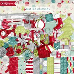 It's beginning to look a lot like Christmas... have you noticed? Start your holiday scrapping and projects off right with this fun and whimsical Christmas kit!