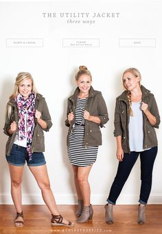 Travel Style: 10 Looks with 20 Pieces   Part Four: The Utility Jacket   Intentional Style by Ashlee Proffitt and Megan Michele   Utility Jacket by H&M