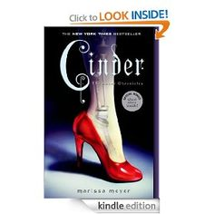 Cinder (The Lunar Chronicles) by Marissa Meyer...This book is described as a retelling of cinderella which is why I blew it off as long as I could. I read it to find cinderella only plays a LITTLE in the story. This book is a refreshing YA dystopian book. There is nothing else like it and it is addictive! I give it 4 stars! Worth the read!
