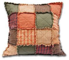 Rag QUILT PILLOWS | ve been thinking for a while about making rag-quilted shams… More
