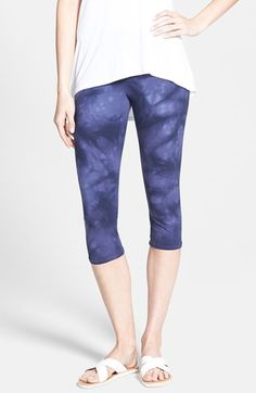 Women's Nordstrom 'Go To' Print Capri Leggings