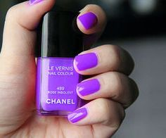 Chanel nail polish in a lovely shade of purple. Too bad a bottle of Chanel nail polish costs over 20 bucks! Chanel Nail Polish, Purple Nail Polish, Chanel Nails, Purple Nails, Nail Polish Colors, Color Nails, Nail Polishes, Chanel Makeup, Love Nails