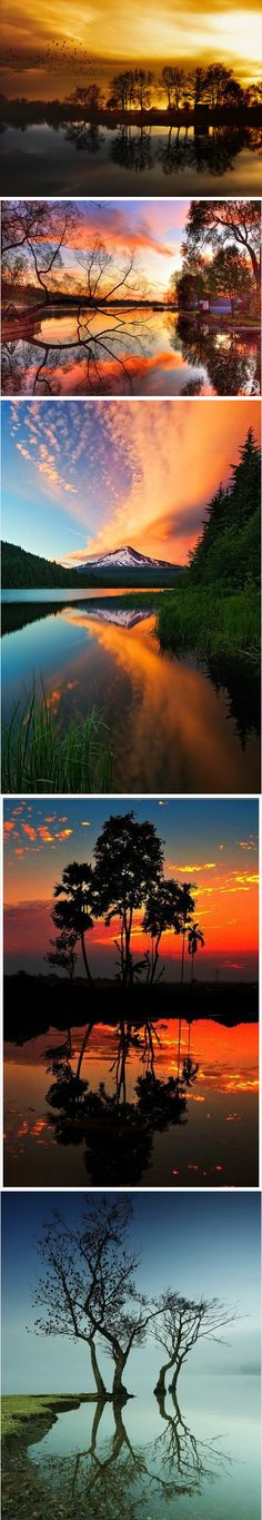 nature's palette in reflection-The sun and all the different colors it can show us. BEAUTIFUL-