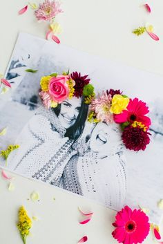 Love this DIY 3D flower crown photo idea as a Mother's Day gift.