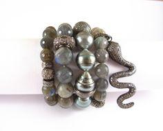 Robin Labb Labradorite and tahitian pearls