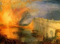 The Burning of the Houses of Parliament (1834) by Joseph Mallord William Turner