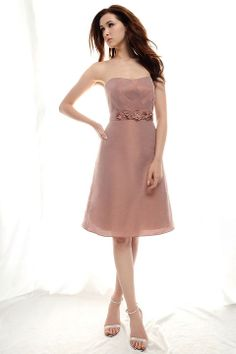 Pretty A-line natural waist chiffon dress for bridesmaid