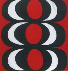Minimal OR Curtains......KAIVO Red/Black Fabric by Marimekko modern upholstery fabric