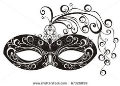 Masks for a masquerade. Vector party mask. by Marina99, via ShutterStock