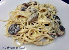 Mis Cosillas de Cocina: Espaguetis con setas