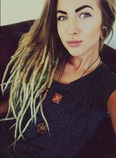 Lovley dreadlock girl,  Check out http://www.dreadstuff.com for dreadlock products, knitted dreadlock hats, and dreadlock accessories! :: #dreadstop