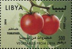Stamp: Tomatoes (Libya) (Vegetables from Libya) Mi:LY 3065,WAD:LY009.14