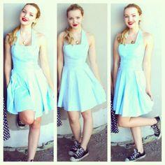 Like my blue dress?