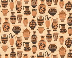 Greek Pottery pattern - harrydrawspictures