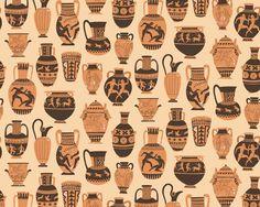 Greek Pottery pattern - harrydrawspictures