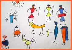 Easy & Simple Warli/Varli Art Figures