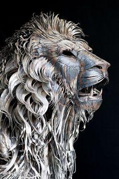 Funny pictures about Metal Lion Sculpture By Selcukk. Oh, and cool pics about Metal Lion Sculpture By Selcukk. Also, Metal Lion Sculpture By Selcukk photos. Sculpture Metal, Lion Sculpture, Abstract Sculpture, Scrap Metal Art, Wow Art, Animal Sculptures, Clay Sculptures, Art Plastique, Oeuvre D'art