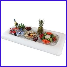 Hot Inflatable Serving Bar Cooler Buffet Salad Food & Drink Tray For Party / Picnic Christmas Halloween Decoration Party Supply