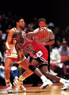 Doc Rivers & Michael Jordan  #doc #docrivers #jordan #oldschool #nba #basketball #red #black  www.kingsofsports.com